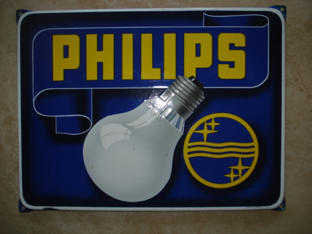 emaille bord philips 1,lamps,bulb,porcelain sign, email schild, plaque emaillee