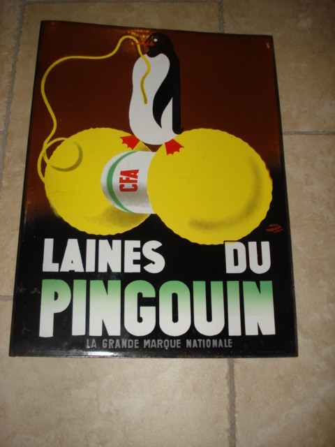 ,porcelain sign,emaill schild,reclamebord emaille bord pinguin