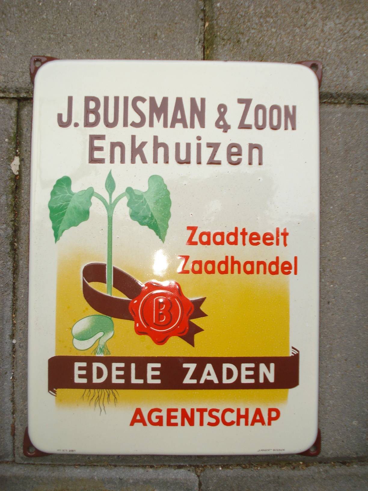 ,porcelain sign,emaill schild,reclamebord emaille bord buisman zaden
