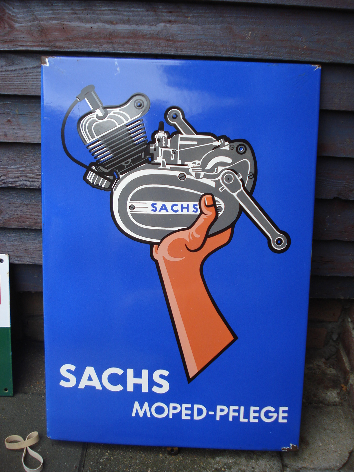 ,porcelain sign,emaill schild,reclamebord emaille bord sachs bromfiets