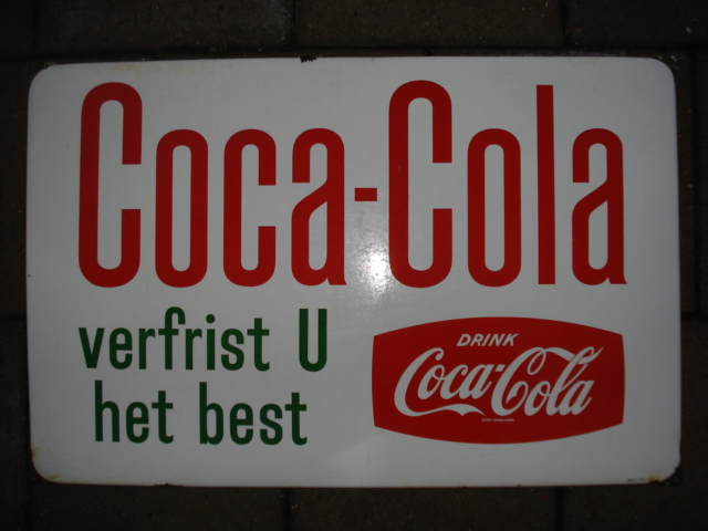 emaille bord coca cola,porcelain sign