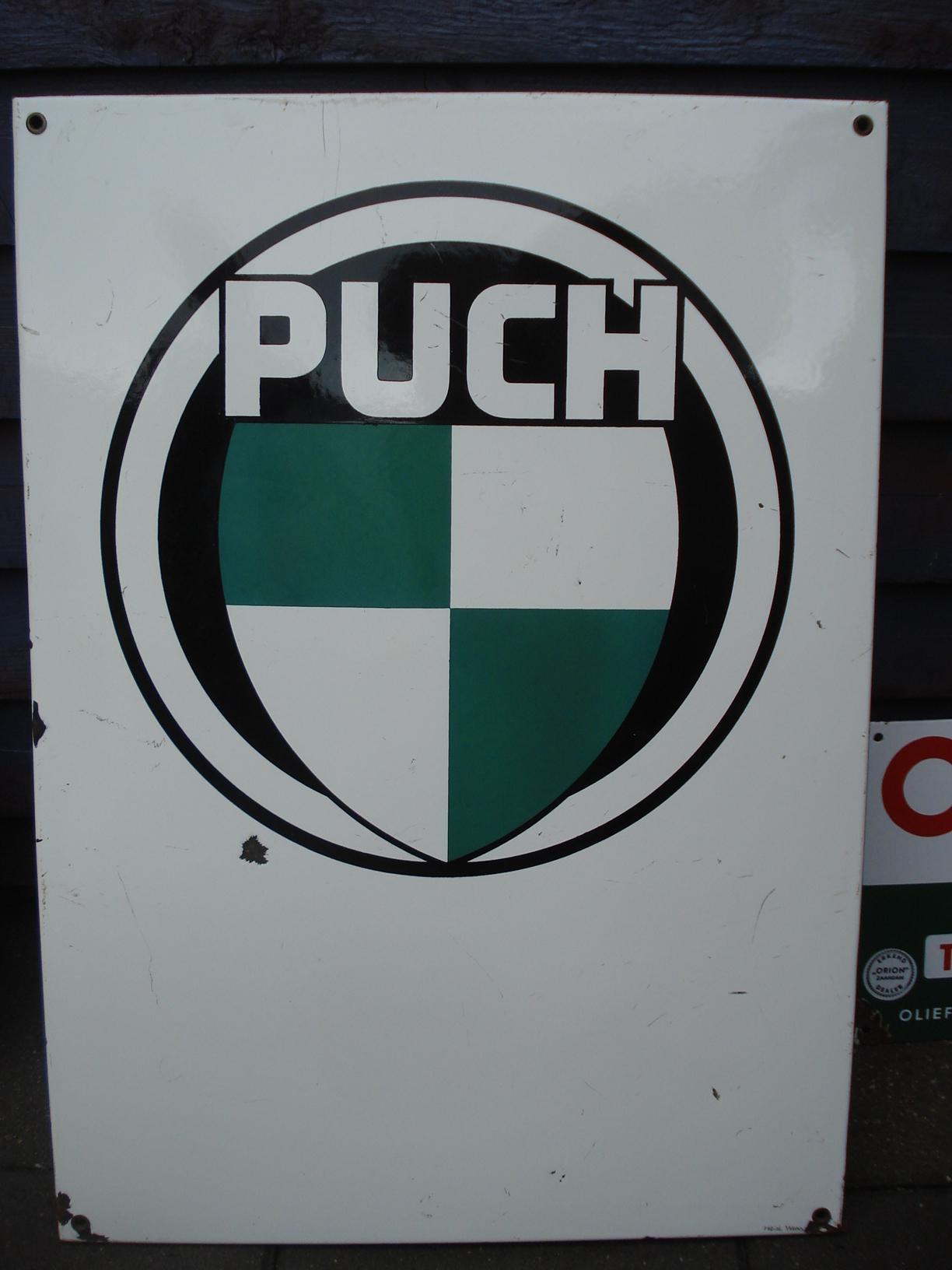 ,porcelain sign,emaill schild,reclamebord emaille bord puch bromfiets