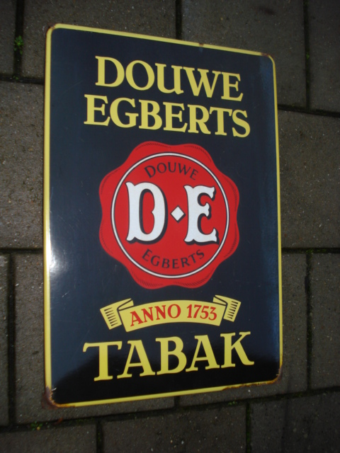 douwe egberts emaille bord,porcelain sign, email schild, plaque emaillee