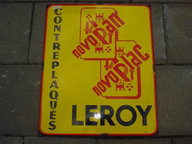 emaille bord leroy,porcelain sign,emaill schild,reclamebord