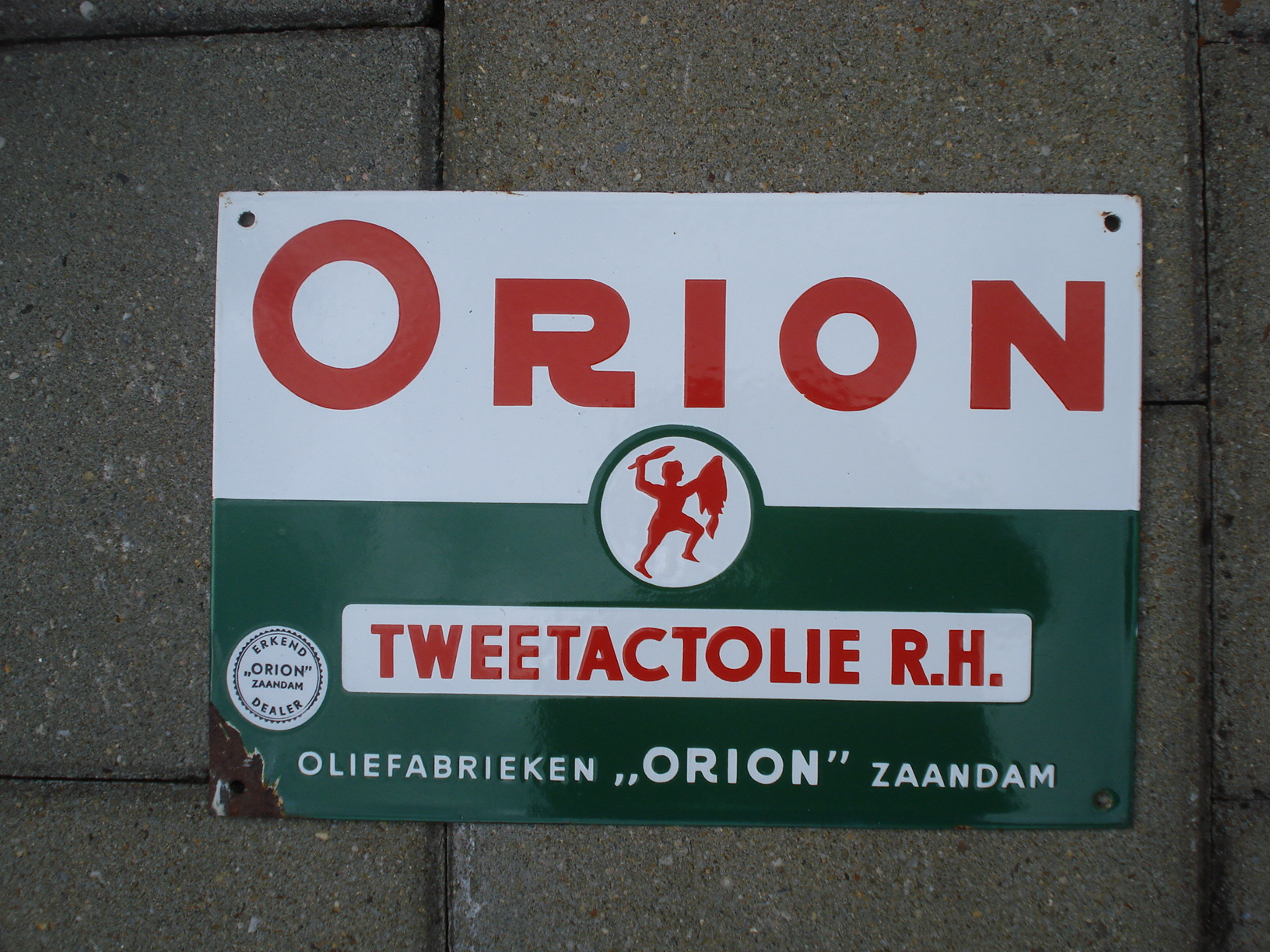 ,porcelain sign,emaill schild,reclamebord emaille bord orion tweetakt olie