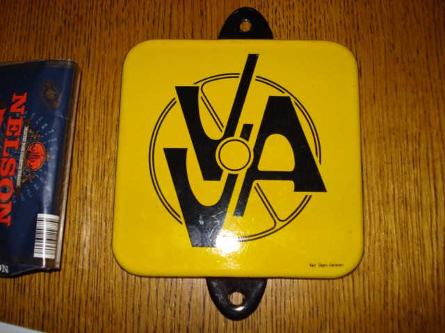 emaille bord vva,porcelain sign, email schild, plaque emaillee ,car,automobile