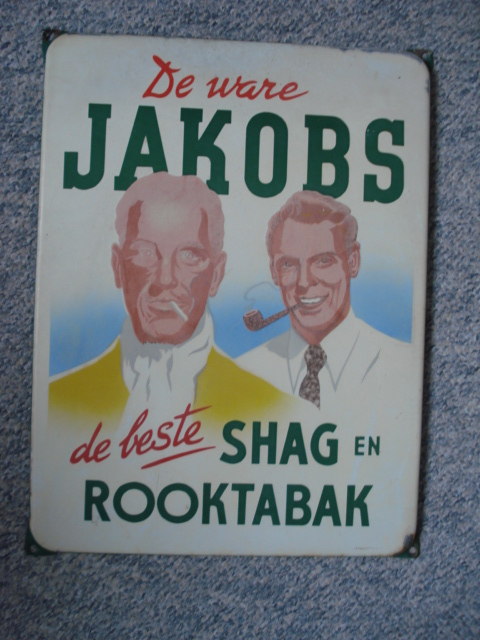 ,porcelain sign,emaill schild,reclamebord emaille bord jakobs