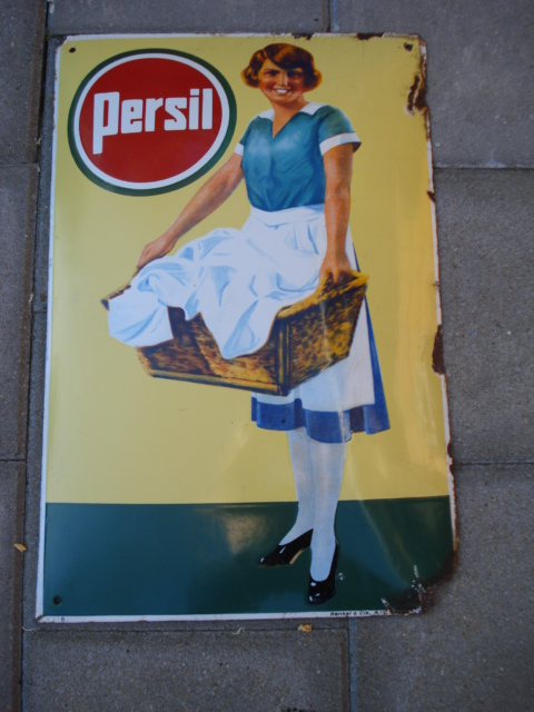 emaille bord persil,porcelain sign, email schild, plaque emaillee